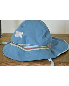 Pickapooh Fireman Hat Denim Stripe UV 80
