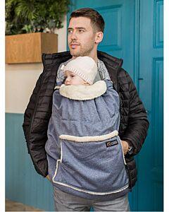 Isara Winter Babywearing Cover Blue Melange