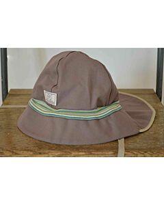 Pickapooh Fireman Hat Khaki Stripe UV 80