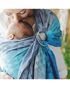 Little Frog Navy Illusion Ring Sling