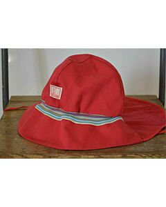 Pickapooh Fireman Hat Red Stripe UV 80