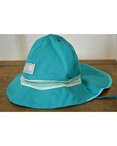 Pickapooh Fireman Hat Turquoise Stripe UV 80