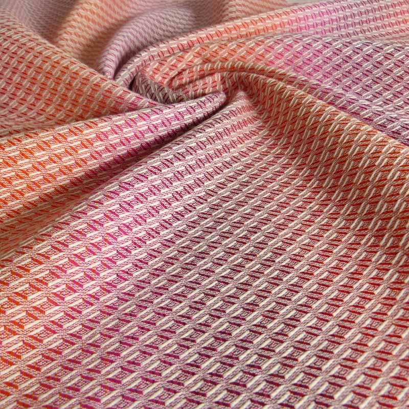 A diamond weave fabric ring sling