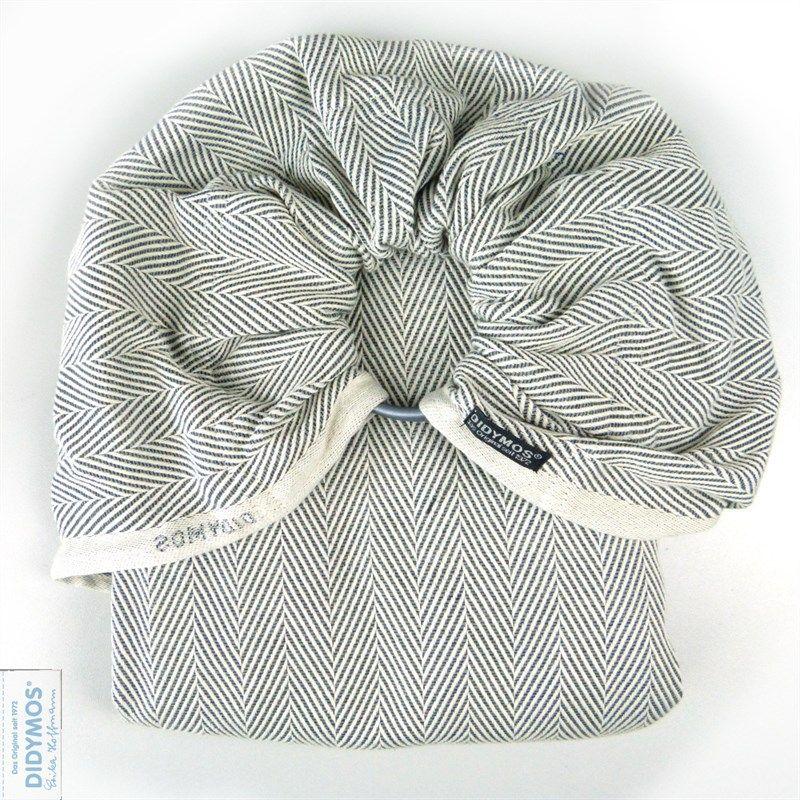 A herringbone weave fabric ring sling