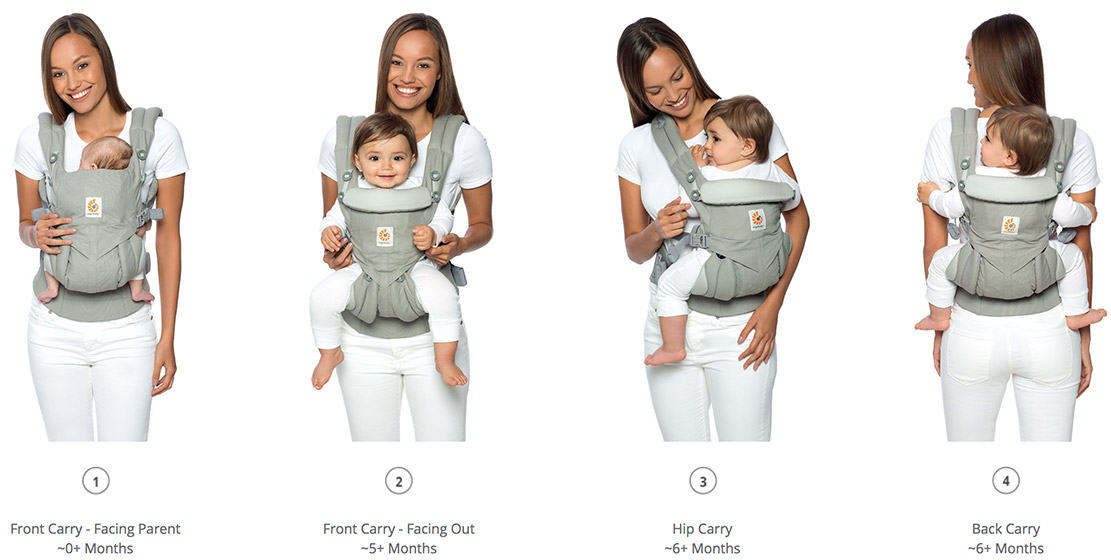 d85eea1cafb Ergobaby Omni 360 Baby Carrier Cool Air Mesh Oxford Blue