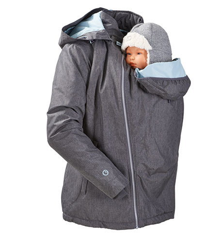 Mamalila Winter Jacket can be used when babywearing front and back