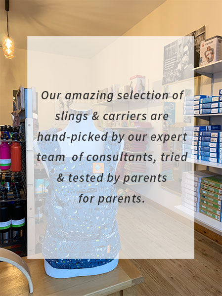 Expert babywearing consultants on-hand for help and advice.